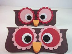 Owl Party Favor TopperCandy Bag Favor Red by TreasuredCollections, $12.50