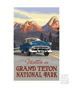 Grand Teton Road Trip Pal 1113 Photographic Print by Paul A Lanquist at Art.com