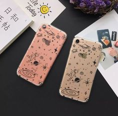 Made of flexible silicone, show off the metal finish of your iphone 6/6S, but make it even better with this awesome clear planet phone case.