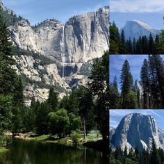 A few shots from yesterday's visit to #Yosemite Valley. Very hot(100s!) and not much water in the falls, but a beautiful day :)