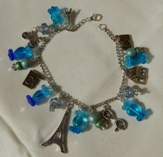 Paris Tour Charm Bracelet - AZ Stained Glass LLC