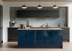 Haddington Gloss – First Impressions. Shown in bespoke gloss colour Twilight mixed with matt painted Graphite.