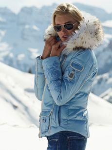 anisa-d powder jacket with fur