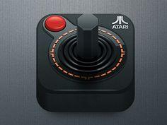 classic video game icon: Atari joystick