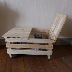 Kids storage/art/lunch table! Coffee table. Make top extend out more for leg room. Make with four crates for better organization?