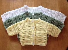 Ravelry: Basic Round Neck Preemie Cardigan pattern by michelle stalker Crochet Baby Cardigan Free Pattern, Crochet Baby Sweaters, Baby Sweater Patterns, Baby Knitting Patterns, Crochet Jumper, Crochet Patterns, Preemie Crochet, Newborn Crochet, Baby Pullover Muster