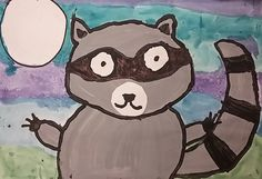 "Our fist graders learned about different kinds of paint when we created raccoons! First we read "" The Kissing Hand "" to get inspired to ..."