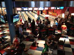 Splitsville bowling in downtown Disney