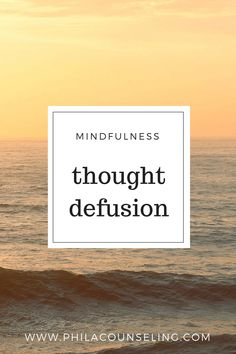 Learn how to practice thought defusion, a mindfulness technique to help you observe your thoughts from a distance and then practice letting them go. Written by Jaclyn Alper, LPC Mindfulness Techniques, Mindfulness Exercises, Relaxation Techniques, Mindfulness Practice, Level Of Awareness, Calming Activities, Health Cleanse, Understanding Anxiety, Health Resources