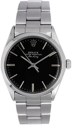 Rolex Air-King Vintage Men's Stainless Steel Oyster Perpetual Watch 5500