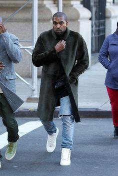 men's winter street style - kanye west
