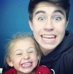Nash Grier and his little sister Skylynn  they are too cute!!