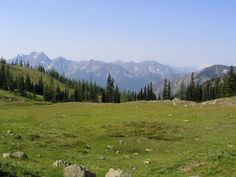 Windy Pass, 7 miles, 1300 ft elevation climb. uses PCT. NW forest pass required. North Cascades.