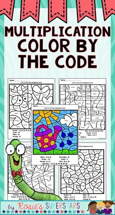 Multiplication Facts Color by the Code Multiplication And Division Practice, Multiplication Facts, Math Fractions, Math Resources, Math Activities, Math Games, Math Tutor, Math Math, Math Education