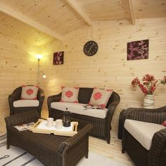Relaxing shed interior.  http://www.worldstores.co.uk/p/Forest_13ft_x_10ft_%284m_x_3m%29_Buxton_Log_Cabin_with_34mm_log.htm