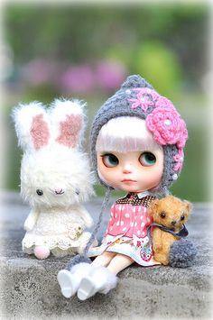 3 Friends ♥♥♥....*Bubu, Milky & Teddy Sullivan** #Blythe