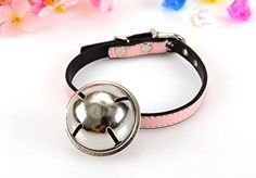 ES Tech PU Leather Pet Collars, Collar with Bell for Cats Puppies Dogs, Yellow