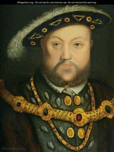 Portrait of Henry VIII in a Jewelled Chain and Fur Robes - (after) Holbein the Younger, Hans Tudor Monarchs, English Monarchs, Tudor History, British History, Hans Holbein The Younger, Tudor Dynasty, Tudor Era, King Henry Viii, Tudor Rose