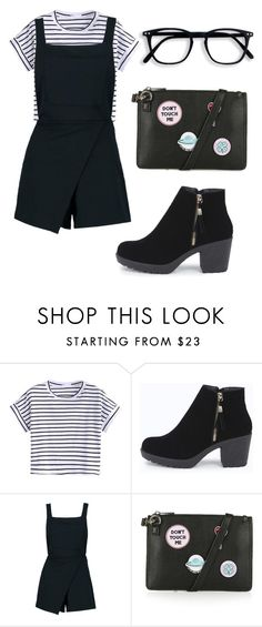 """""""Bad Cutie """" by sapphire-stone ❤ liked on Polyvore featuring Boohoo and Topshop"""