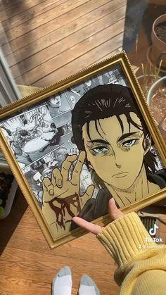 Anime Crafts, Attack On Titan Art, Diy Canvas Art, Anime Films, Painting On Glass, Glass Paint, Animes Wallpapers, Manga Art, Aesthetic Anime
