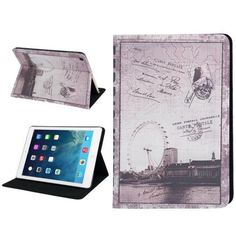 For+iPad+Air+Postcard+Style+London+Eye+Leather+Case+with+Holder+&+Sleep+/+Wake-up+Function