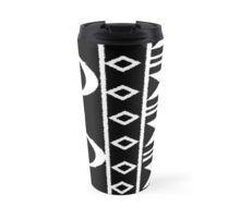 Tribal Print Black/White Travel Mug Travel Mugs, Tribal Prints, Cups, Black And White, Tableware, Shopping, Design, Black White, Mugs