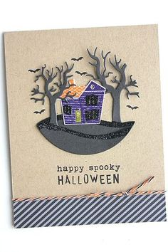 Happy Spooky Halloween Card by Heather Nichols for Papertrey Ink (August 2015)