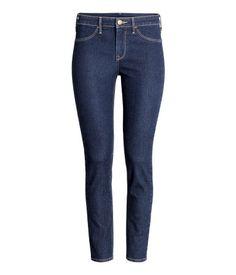 Skinny Regular Ankle Jeans   Dark denim blue   Ladies   H&M US