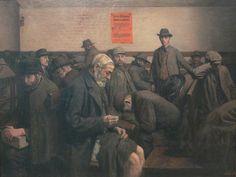 Jens Birkholm, Warmhälle in Berlin 1908  Berlinische Gallerie (chromatic orange)