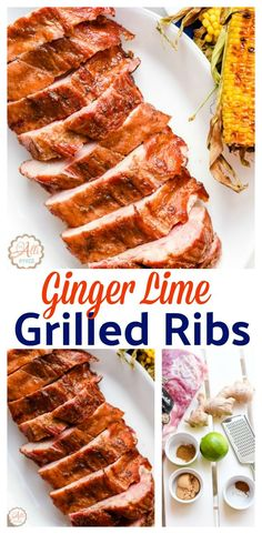 Ginger Lime Grilled Ribs are a family favorite. The ginger lime rub is super easy to make. Whenever you're entertaining friends and family, get your grill on and use my step by step directions to grilling ribs. Your family and friends will love these Ginger Lime Grilled Ribs. I promise! #GetGrillingAmerica #ad @SmithfieldFoods