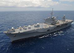 USS Blue Ridge is underway. U.S. 7th Fleet flagship USS Blue Ridge (LCC 19) is underway in the Philippine Sea.