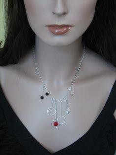 Harry Potter Quidditch Swarovski Crystal Sterling Silver Necklace $80