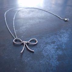 forget me knot necklace by kiel mead.