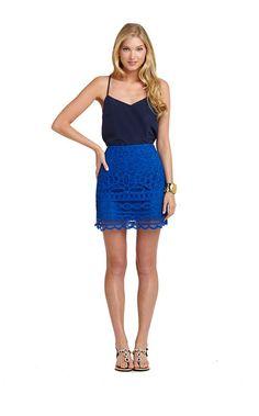 #lillyonlinesale - Gretta Skirt in Schooner Blue Going Batty: Now $79