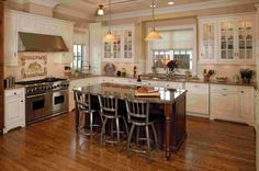 Modern Small Two Toned Kitchen Island Design With Black Faux Leather Upholstery…