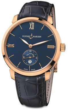 """Ulysse Nardin Classico Manufacture Watch - by Rob Nudds - see & read more on aBlogtoWatch.com """"It might surprise you to learn that the Ulysse Nardin Classico Manufacture will be the first watch in the brand's Classico range to feature its own in-house movement. The Ulysse Nardin Classico Manufacture is a simply styled watch, with a pleasingly restrained dial that features central hour and minute hands, a going seconds sub-dial at 6 o'clock..."""""""