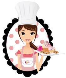 N~juz Cake & Cookies Logo Cookies, Cake Cookies, Cake Wallpaper, Kitchen Logo, Chef Logo, Bakery Business Cards, Cake Logo Design, Cake Quotes, Bakery Logo