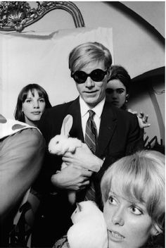 Andy Warhol with rabbit