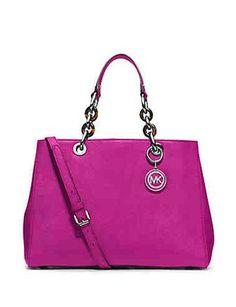 Michael Kors Cynthia Medium Satchel Handbag Pink