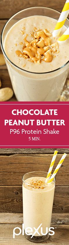 Peanut butter and chocolate go together like, well, peanut butter and chocolate. Thanks to this Plexus 96® chocolate peanut butter cup protein shake, the dynamic duo has never been better for you.