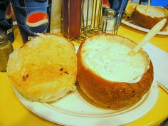 Pismo Beach- Splash Cafes clam chowder bread bowl