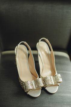 Glittery shoes: http://www.stylemepretty.com/canada-weddings/ontario/toronto/2015/03/05/elegant-liberty-grand-wedding-in-toronto/ | Photography: Mango Studios - http://mangostudios.com/