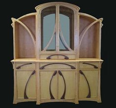 Art Nouveau Breakfront   NEW WOW  made by  William Doub Custom Furniture