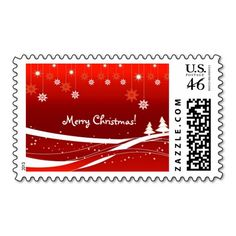 Merry Christmas personalised post stamp