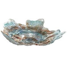 Glitter Pearl Oyster Bowl will make the perfect ashtray for fine cigars and scotch on my back patio :)