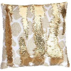 Georgina Giraffe Reversible Sequin Pillow ($50) ❤ liked on Polyvore featuring home, home decor, throw pillows, giraffe throw pillow, white and gold home decor, sequin throw pillow, white and gold throw pillows and giraffe home decor