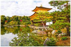 Golden Pavilion With A Crane - Kioto, Kyoto