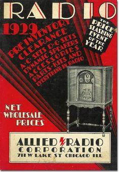 Allied Radio Corporation, Chicago, Ill., 1929.
