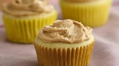 Treat your family to this dessert made using Betty Crocker® Gluten Free cake mix! Enjoy these vanilla cupcakes with sweet and salty frosting.