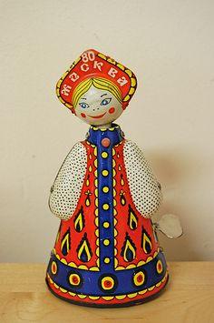 folk tin toy - probably russian